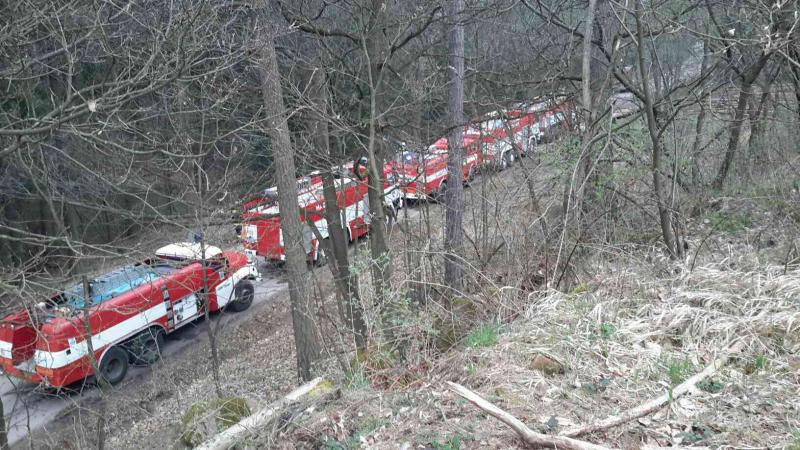 Požár v lese u Všechovic